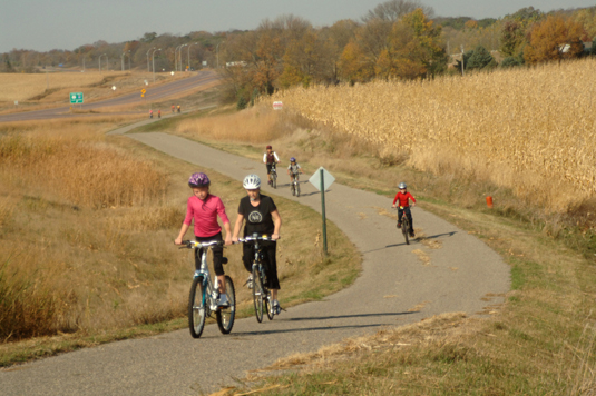 Over 50 Miles of Paved Bike Trails
