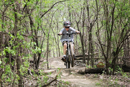 Mountain Biking at Kiwanis Park