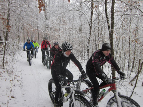 Snow Biking at Seven Mile Creek