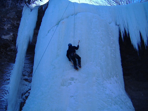 Ice Climbing at Minneopa
