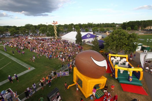 Vikings Training Camp Arial