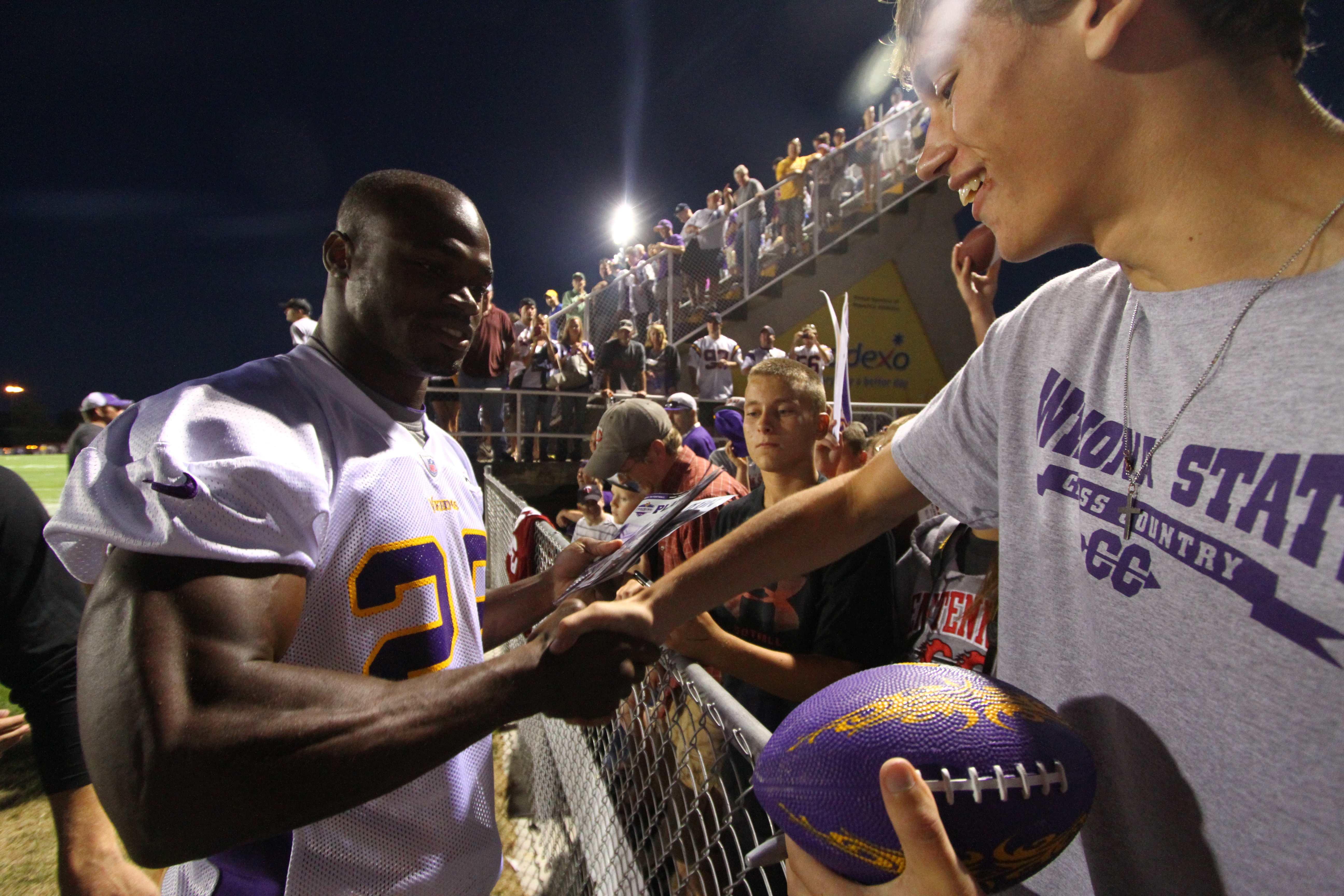 Adrian Peterson and Fans