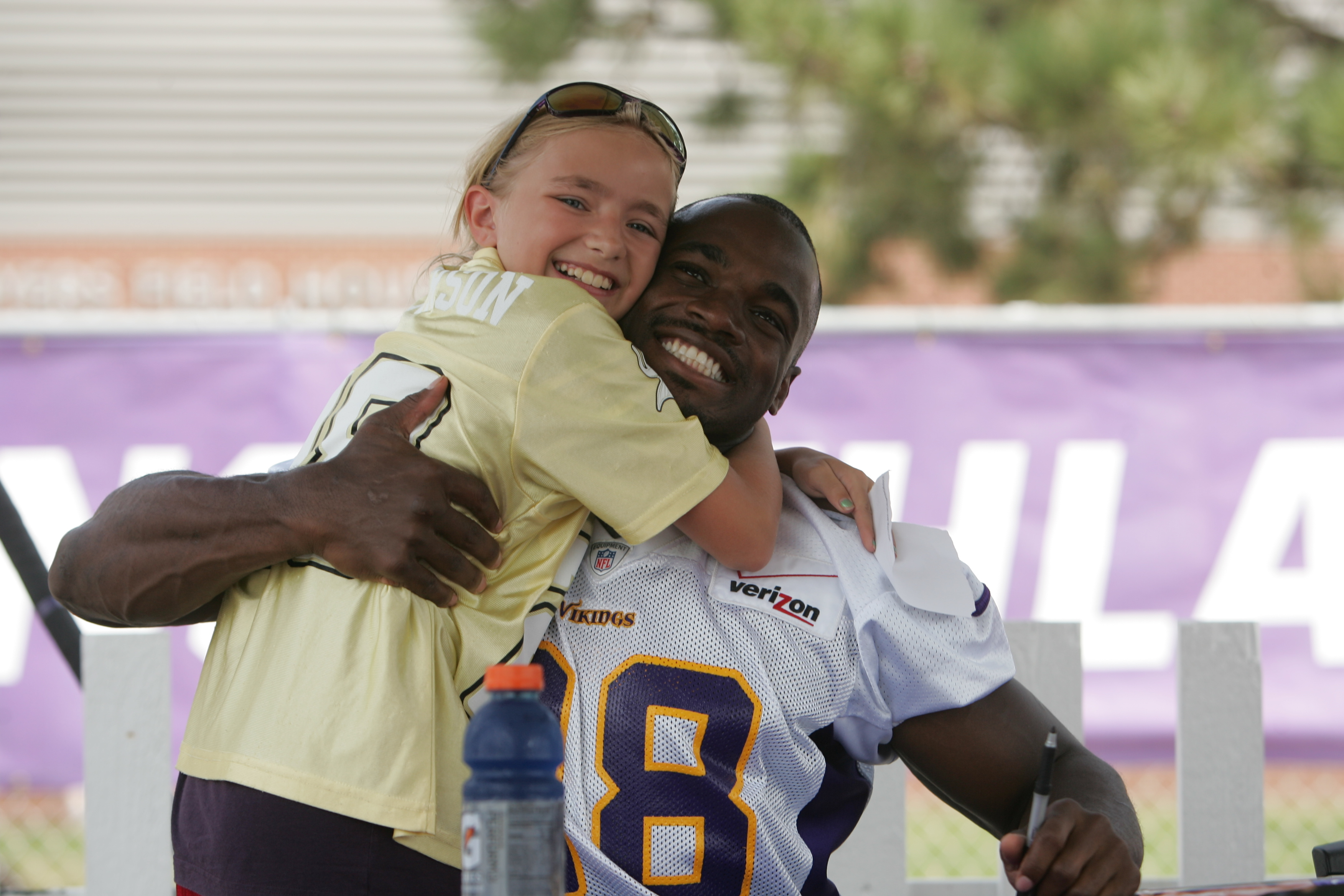 Adrian Peterson and Young Fan