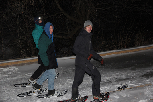 Snowshoeing at Chankaska Creek Ranch and Winery