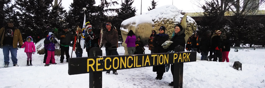 buffalo and reconciliation sign