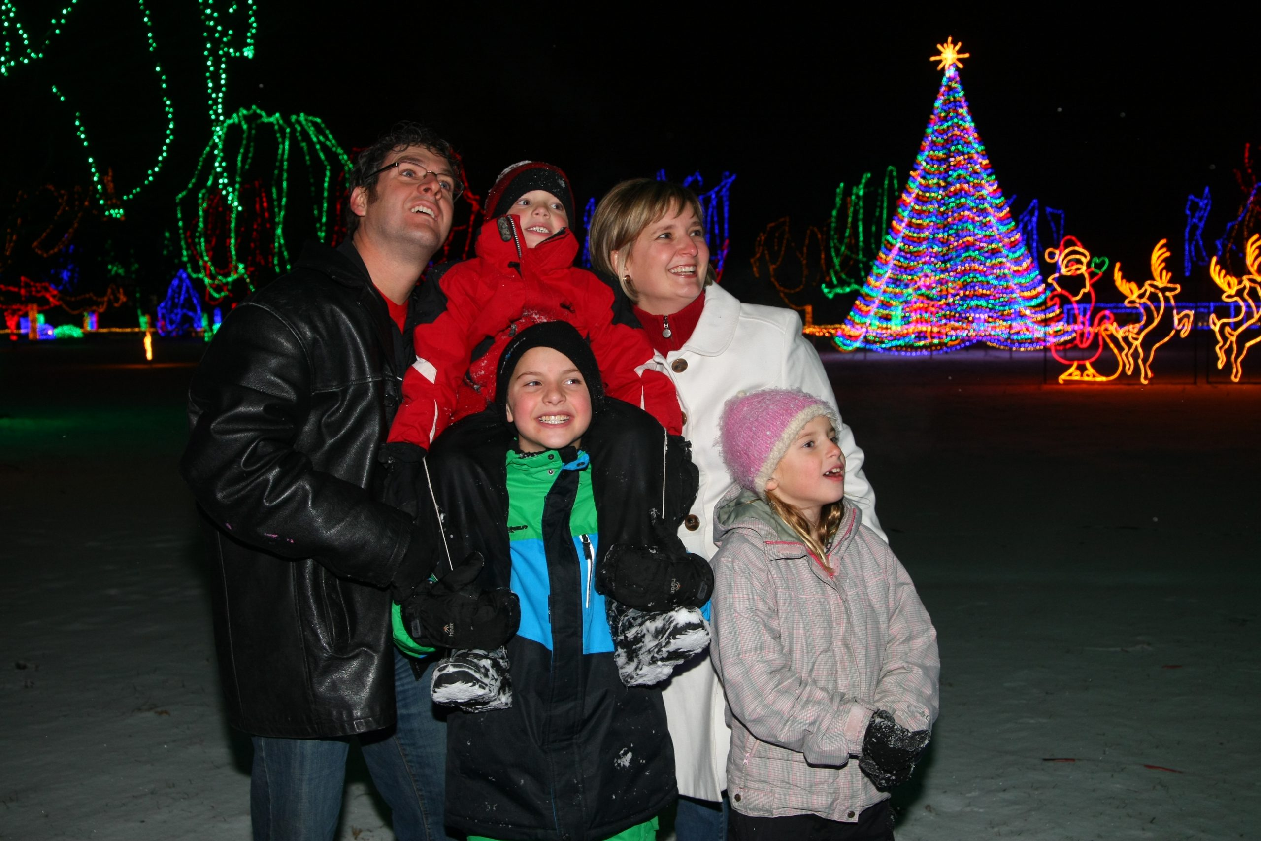 Family Time at Holiday Lights