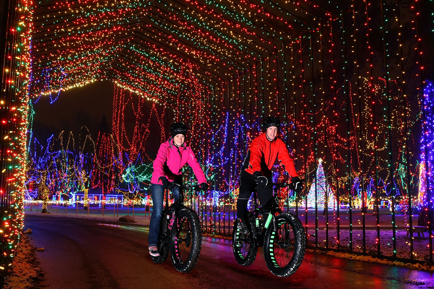Holiday Lights on Bikes