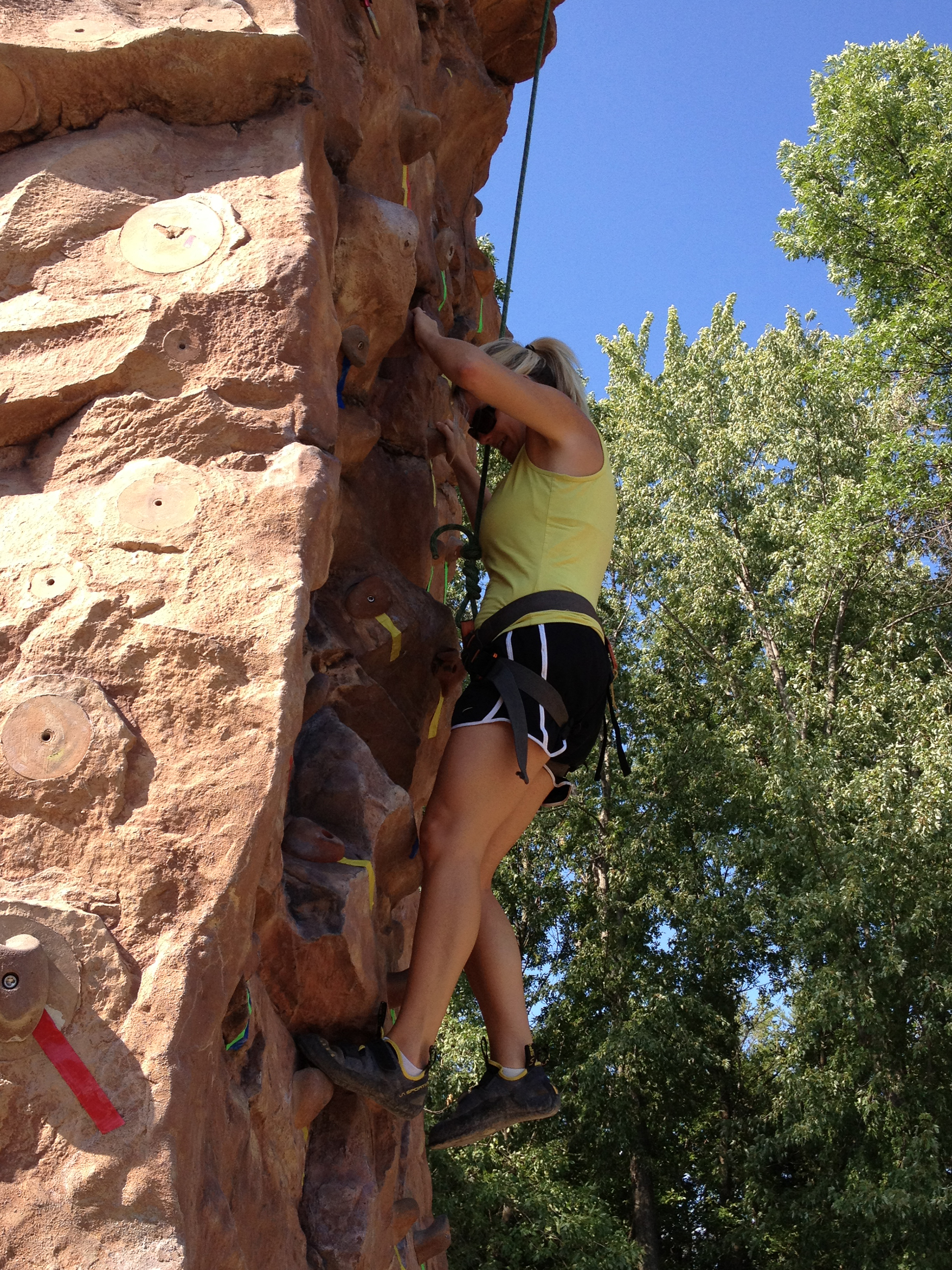 MSU Mankato Rock Wall
