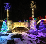 Kiwanis Holiday Lights in Sibley Park Mankato