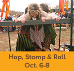 Gather in the GreenSeam theme weekend - Hop, Stomp & Roll
