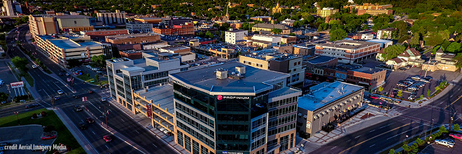 Downtown Mankato Minnesota - credit Aerial Imagery Media